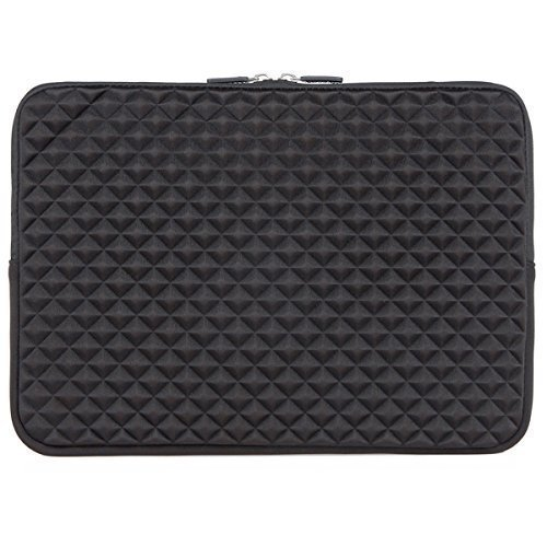 iCozzier-133-14-Inch-Diamond-Foam-Splash-Sleeve-Carrying-Bag-for-Laptop-Notebook-Computer-Chromebook-MacBook-MacBook-Pro-MacBook-Air-Ultrabook-Computer-Black