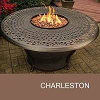 """Agio Charleston - 48"""" Round Cast Top Gas Fire Pit Table"""