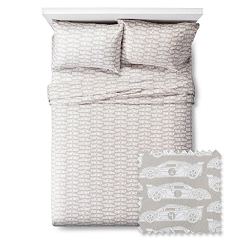 Race-Car-Rendezvous-Twin-Sheet-Set-Grey
