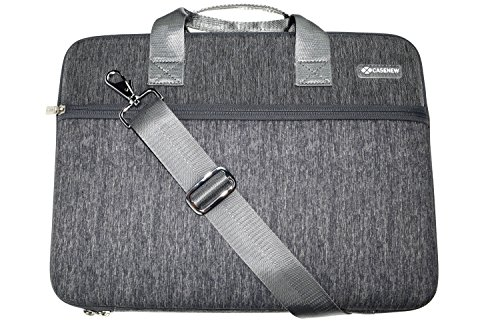 Case-New-Hard-EVA-Carrying-Case-Laptop-Shoulder-Bag-Computer-Notebook-Sleeve-for-13Inch-MacBook-Airwith-Adjustable-Shoulder-Strap-and-Protective-EVA-Foam-Padding-Compartment-Grey