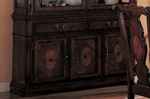 Image of Server Sideboard with Carved Detail Brown Finish (VF_AZ00-45368x28759)