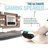 Divoom 90100068002 Bluetooth Gaming Lautsprecher mit Saugnäpfen zum Befestigen an Smartphone/Tablet (4 Watt) weiß