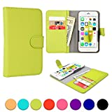 ZTE Blade G/Pro/Lux, G2, III Pro, Q/Mini, Vec 3G phone case, COOPER SLIDER Mobile Cell Phone Wallet Protective Case Cover Casing with Open Camera & Credit Card Holder (Green)