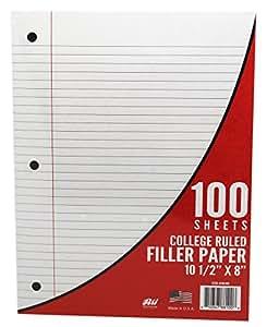 Amazoncom Rti College Ruled Loose Leaf Paper 100