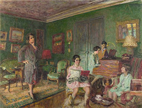 Oil Painting 'Edouard Vuillard Madame Andr Wormser And Her Children ' Printing On Polyster Canvas , 24 X 32 Inch / 61 X 80 Cm ,the Best Bathroom Decoration And Home Decor And Gifts Is This High Quality Art Decorative Prints On Canvas