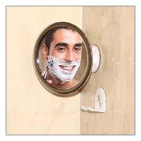 No Fog Shower Mirror with Rotating, Locking Suction; Bonus ...