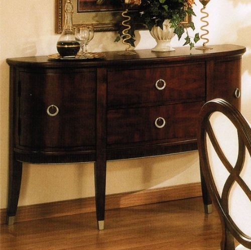 Image of Server Sideboard with Metal Outline in Brown Cherry Finish (VF_AP-629-73)