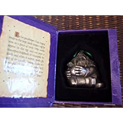 """Hallmark Harry Potter Handcrafted Pewter Christmas Ornament: """"Hagrid and Norbert the Dragon"""""""