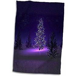 Florene Christmas - Lets Have A Purple Christmas - 11x17 Towel (twl_80492_1)