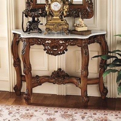 Image of The Royal Baroque Marble Topped Console Table (KS4119)