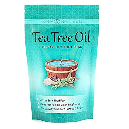 Our Tea tree oil foot soak is a powerful blend of Tea tree oil, Epsom salt, Dead Sea salt, Msm, and 6 additional essential oils. This natural blend relaxes sore achy feet while soaking away stubborn fungus, and bacteria. Our therapeutic soak reli...