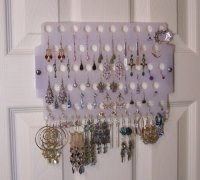 Earring Angel Hanging Pierced Earring Organizer Tree Stand ...