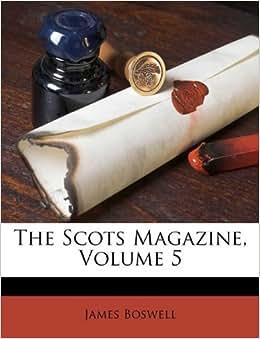 Stern Bettw%C3%A4sche  The Scots Magazine Volume 5 Amazonde James Boswell