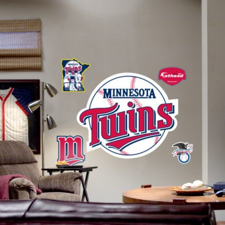 Minnesota Twins Throwback Logo Fathead Promotional Codes