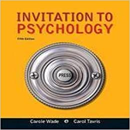 Invitation To Psychology Fifth Edition Aa