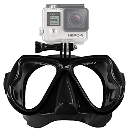 High performance, innovative designed diving mask, offers a unique diving experience to users allowing them to shoot wonderful underwater scenes.. Specially designed to hold all GoPro* models GoPro* HERO2, HERO3, HERO3+ and HERO4 Cameras Twin-len...