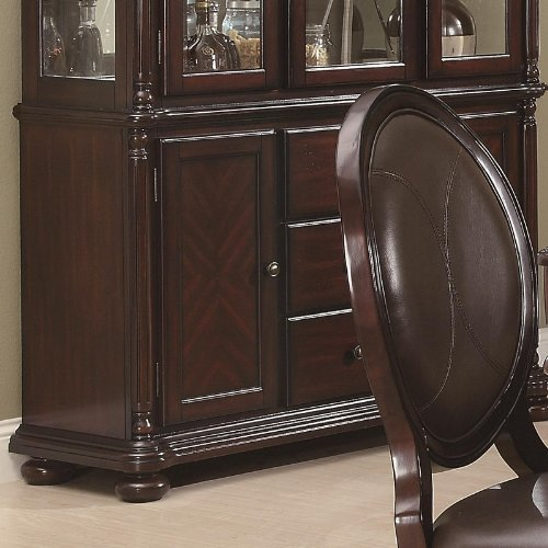 Image of Buffet with Mirrored Back in Brown Cherry Finish (VF_AZ00-84685x37048)