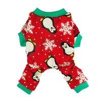 Fitwarm Cute Penguin Xmas Pet Clothes for Dog Pajamas Soft ...