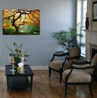 Startonight Wall Art Canvas Maple Tree, Nature, Girls Glow ...