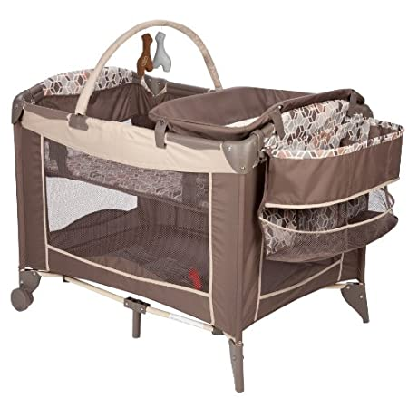 The perfect mini nursery, either at home or on the go, the sweet wonder play yard by safety 1st gives parents everything they need to keep baby happy. The newborn bassinet is comfy for your resting baby and features open-view breathable mesh so you h...