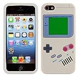 kwmobile シリコンケース ゲームボーイデザイン Apple iPhone SE / 5 / 5S用 グレー - スタイリッシュなデザインと最適な保護