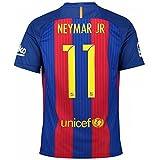 MEN 2016-17 BARCELONA NEYMAR JR # 11 Home Football Shirt Soccer Jersey (SMALL)