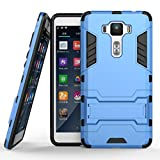 "Zenfone 3 Deluxe 5.5"" ZS550KL Stand Case DWaybox 2 in 1 Hybrid Heavy Duty Armor Hard Back Case Cover for ASUS Zenfone 3 Deluxe ZS550KL 5.5 Inch (Light Blue)"