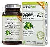 NatureWise Grüner Kaffee Extrakt 800, 60 Fatburner Kapseln mit GCA, 1600 mg Tagesdosis - die höchste, die auf dem Markt verfügbar ist