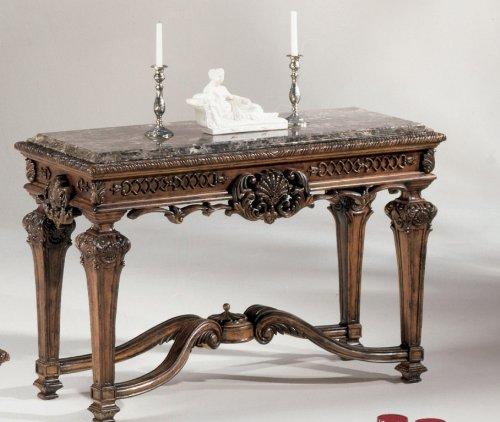 Image of Old World Dark Brown Casa Mollino Sofa Console Table (T953-4)