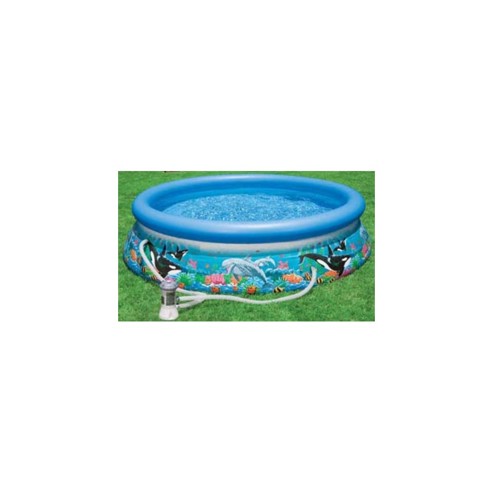 Pool Komplettset Amazon Intex 54902 Easy Set Oceanreef Pool Mit Filterpumpe 3 05m X