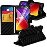Asus ZenFone 2 Carbon Wallet Case Cover (Black) Plus Free Gift, Screen Protector and a Stylus Pen, Order Now Best Valued Phone Case on Amazon! By FinestPhoneCases