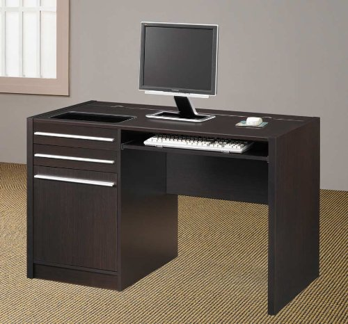 Picture of Comfortable Cappuccino Computer Desk - Coaster 800702 (B005LWRMD0) (Computer Desks)