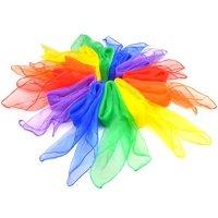 Jmkcoz 12pcs Square Juggling Silk Dance Scarves Magic ...