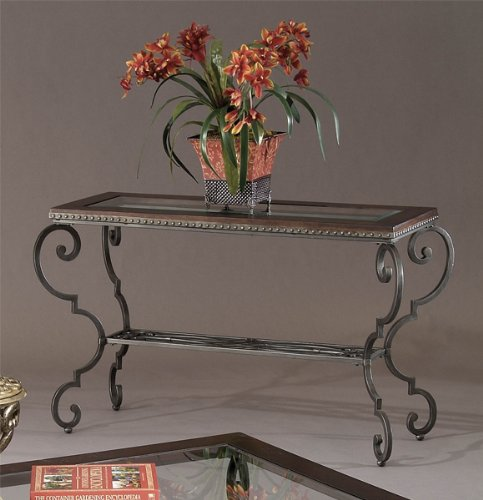Image of Bassett Mirror Giodino Console Table with Wood Top (T1170-400)