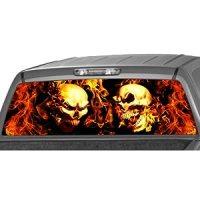 Flaming Skull Drawings | Car Interior Design