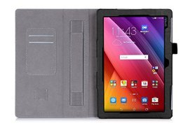 ISIN-Tablet-Case-Series-Premium-PU-Leather-Case-All-Powerful-Protective-Stand-Cover-for-ASUS-Zenpad-10-Z300C-Z300M-101-inch-Tablet-with-Velcro-Hand-Strap-and-Card-Slots-Black