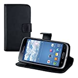 kwmobile Elegant synthetic leather case for the Samsung Galaxy K Zoom with magnetic fastener and stand function in black