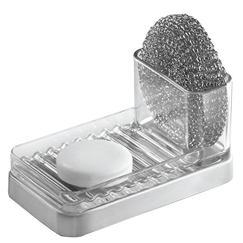 Interdesign Forma Kitchen Sink Soap Sponge Scouring Pad