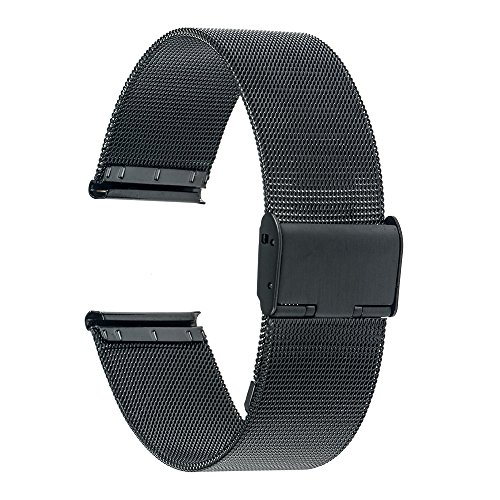 TRUMiRR-16mm-Watchband-Mesh-Stainless-Steel-Metal-Watch-Band-Strap-Bracelet-for-Motorola-Moto-360-2-2nd-Gen-42mm-Womens-2015-with-Tool-and-Spring-Bar-Black