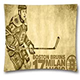 "Cotton Linen NHL Square Decorative Throw Pillow Case,Cushion Cover,Boston Bruins Sofa Throw Pillows,18 ""X18 "",Boys"