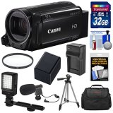 Canon-Vixia-HF-R72-32GB-Wi-Fi-1080p-HD-Video-Camcorder-with-32GB-Card-Battery-Charger-Case-Tripod-LED-Light-Microphone-Kit