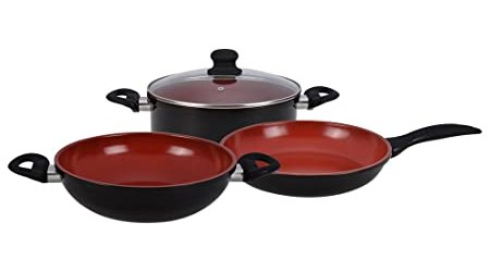 Wonderchef Mystique Induction Base Cookware Set, 4-Pieces