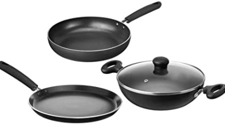Solimo Non-Stick 3- Piece Kitchen Set