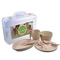 Amazon.com : Wealers 24 Piece Plastic Reusable Tableware ...