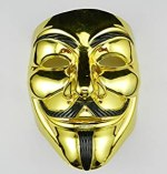 Guy Fawkes Mask Gold