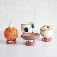 Brandream Cute Sports Basketball Bathroom Accessories ...