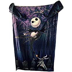 The Nightmare Before Christmas Comfy Blanket with Sleeves ~ Jack Skellington & Zero ~ Unisex Adult Size