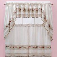 Amazon.com: Vienna Rose Kitchen Curtains