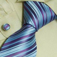 Racchi's blog: Blue stripes mens ties lot Purple birthday ...