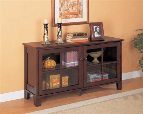 Image of Coaster 950162 Cappuccino Finish 2 Doors Console Table (B0040V8TQM)